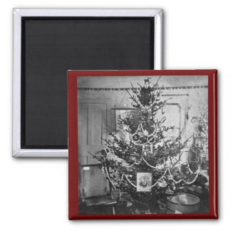Stereoview Christmas Tree Victorian 1800s Vintage Refrigerator Magnets