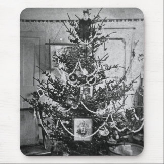 Stereoview Christmas Tree Victorian 1800s Vintage Mouse Pad