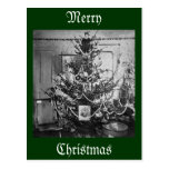 Stereoview Christmas Tree Victorian 1800s Vintage Postcard