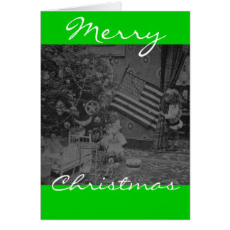 Stereoview - Patriotic  Christmas circa 1901 Card