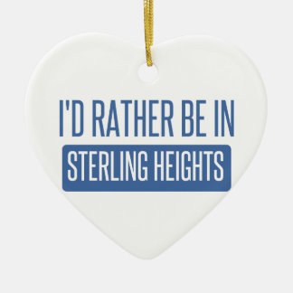 Sterling Heights Ceramic Heart Decoration