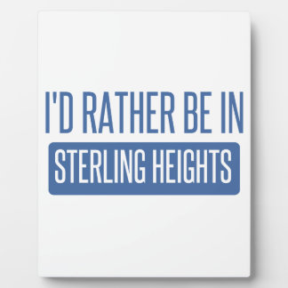 Sterling Heights Plaque