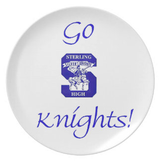 Sterling High Go Knights Logo II Plate