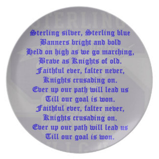 Sterling High School Alma Mater Plate
