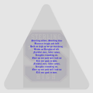 Sterling High School Alma Mater Triangle Sticker