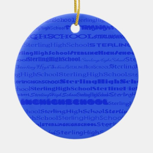 Sterling High School Text Design III Ornament