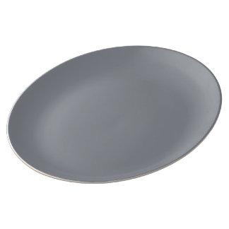 Sterling Silver color Porcelain Plate