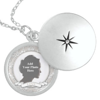 Sterling Silver Customizable Love One Locket Neckl