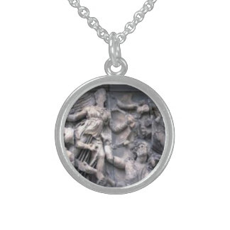 Sterling Silver Greek Carving Necklace