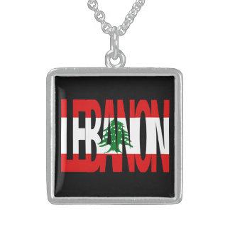 Sterling Silver Lebanese Flag Logo Necklace