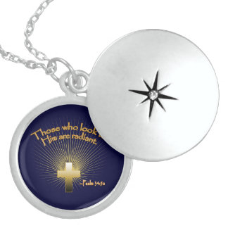 Sterling Silver Locket with Religious Quote