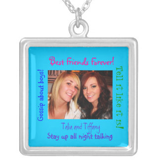Sterling Silver necklac Best Friends Forever!, Silver Plated Necklace