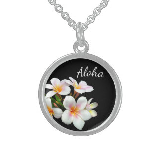Sterling Silver Necklace-Hawaiian Aloha Sterling Silver Necklace