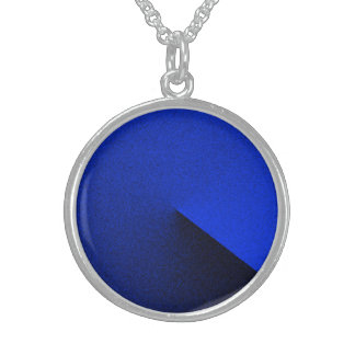 Sterling Silver Necklace in Blue Style