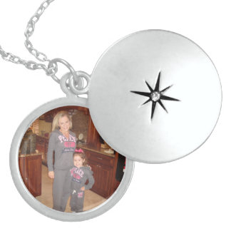 Sterling SILVER photo locket necklace