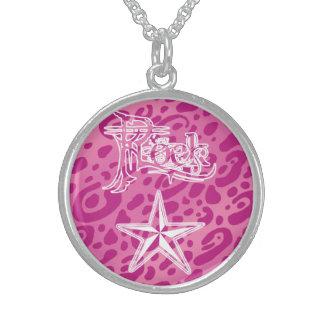 Sterling Silver PkLP Rock Star Necklace