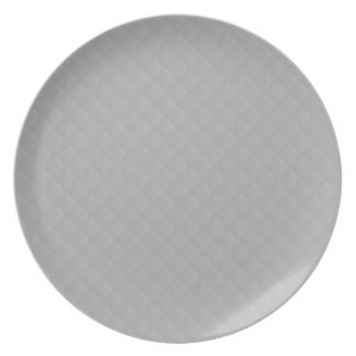 Sterling Silver Quilted Pattern Party Plate