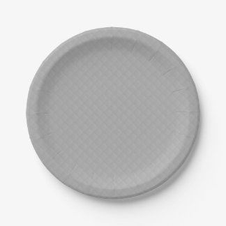 Sterling Silver Quilted Pattern 7 Inch Paper Plate