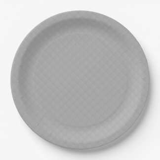 Sterling Silver Quilted Pattern 9 Inch Paper Plate