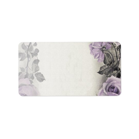 Sterling Silver Rose Blank Wedding Address Labels
