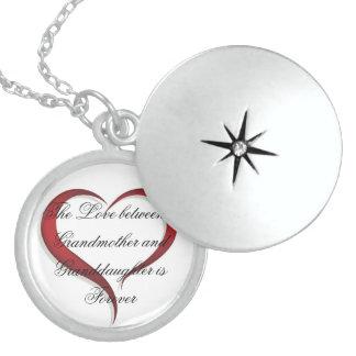 Sterling Silver Round Locket/Love Round Locket Necklace