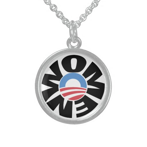Sterling Silver Women for Obama Necklace