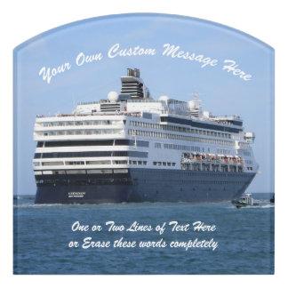 Stern and Starboard Cruising Away Custom Door Sign