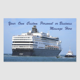 Stern and Starboard Cruising Away Custom Rectangular Sticker