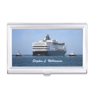 Stern and Starboard Cruising Away Personalized Business Card Holder