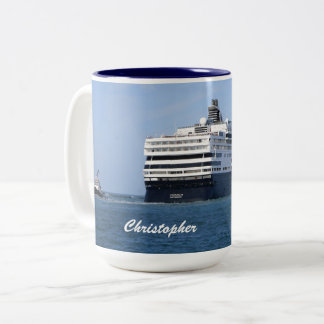 Stern and Starboard Cruising Away Personalized Two-Tone Coffee Mug