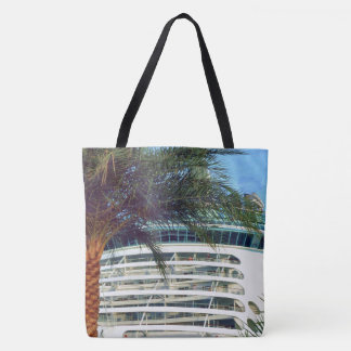 Stern Aspect Cruise Ship Palm Tree Tote Bag