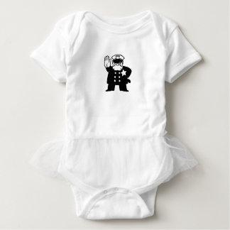 stern cartoon cop baby bodysuit