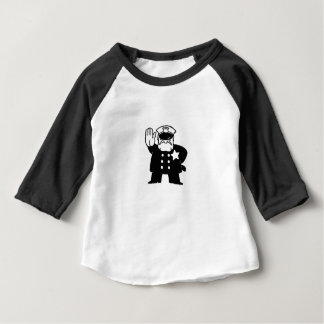 stern cartoon cop baby T-Shirt