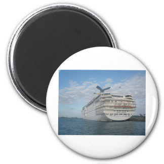 Stern of the Carnival Sensation Cruise Ship 6 Cm Round Magnet