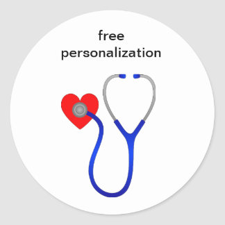 Stethoscope and Heart Stickers