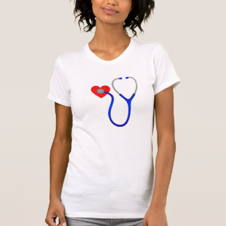 Stethoscope and Heart T Shirt
