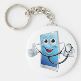 Stethoscope Cartoon Phone Mascot Key Chains