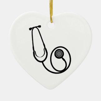 Stethoscope Ceramic Ornament