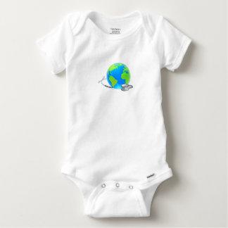Stethoscope Earth World Globe Health Concept Baby Onesie