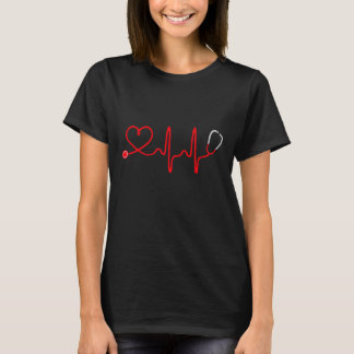 Stethoscope Heart Nurse T Shirt - Registered Nurse