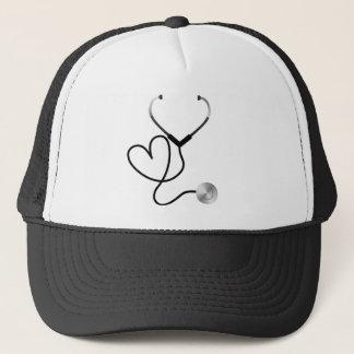Stethoscope Heart Trucker Hat