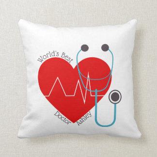 Stethoscope Personalized World's Best Doctor Nurse Cushion