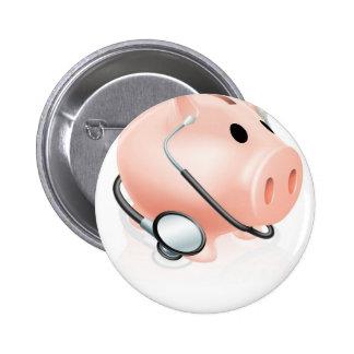 Stethoscope piggy bank button