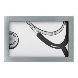 Stethoscope Rectangular Belt Buckle