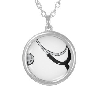 Stethoscope Silver Plated Necklace