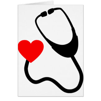 Stethoscope With Heart Card