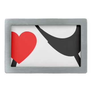 Stethoscope With Heart Rectangular Belt Buckle