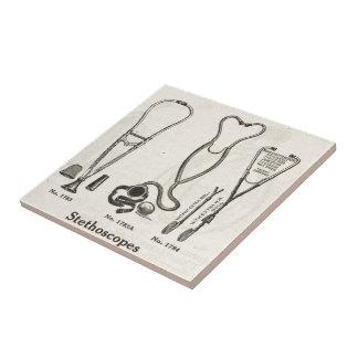 Stethoscopes Ceramic Tile