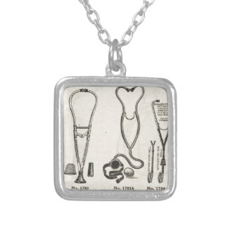 Stethoscopes Silver Plated Necklace