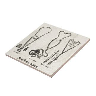 Stethoscopes Small Square Tile